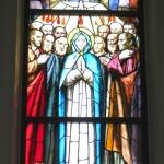 Pentecoste, Trento Longaretti, vetrata istoriata, 1996