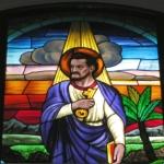 San Pietro, autore ignoto, vetrata istoriata, 1939
