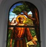 San Francesco, autore ignoto, vetrata istorata, 2004