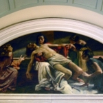 Chiesa - interno - Deposizione di Alessandro Pomi - olio su tela (1948)
