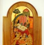 L'apparizione di Mamre, icona rumena, 1996