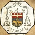 Stemma del Vescovo Mons. Antonio Mistrorigo - intarsio marmoreo (1975)